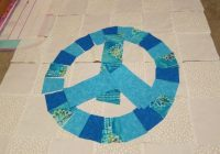 peace sign quilt before it was sewn peace sign quilts Peace Sign Quilt Pattern Inspirations