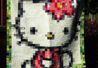 picture perfect pixel quilts Modern Hello Kitty Quilt Block Pattern Gallery
