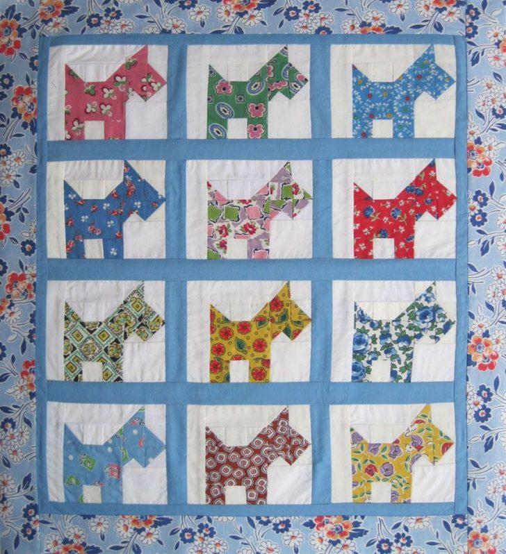 Permalink to 9 Beautiful Scottie Dog Quilt Pattern Gallery