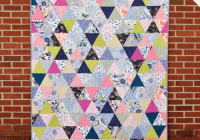 pin on modern quilting Unique Equilateral Triangle Quilt Pattern
