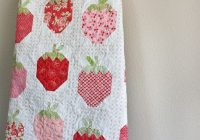 pin on quilts we love Elegant Strawberry Quilt Pattern Inspirations