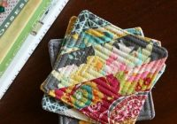 pin on sewing quilts Interesting Quilted Coasters Pattern Inspirations