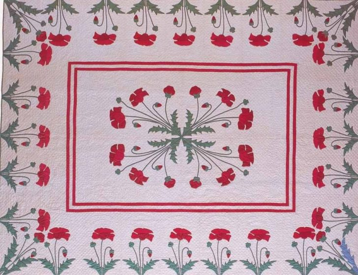 Permalink to Cool Vintage Poppy Quilt Pattern