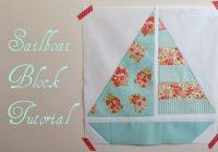 pretty little quilts summer beach quilt tutorial part iv Modern Sailboat Quilt Block Pattern