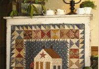 primitive folk art quilt pattern this old farmhouse wall Cool Primitive Quilting Patterns Inspirations