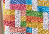 pull out your brightest fabrics for this easy quilt misc Stylish Easy Quilt Patterns Inspirations