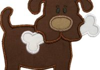 puppy dog applique downloadable patterns dog and bone Interesting Dog Applique Quilt Patterns Gallery
