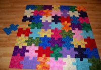 puzzle quilt variation trying to fit in quilting color Interesting Puzzle Piece Quilt Pattern