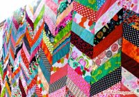 qayg chevron quilt tutorial made marzipan Modern Chevron Quilt Pattern Queen Inspirations