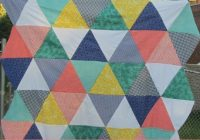 quackadoodle quilt equilateral triangle quilt tutorial Unique Equilateral Triangle Quilt Pattern