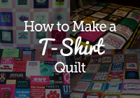 quick and easy t shirt quilt tutorial national quilters circle Cozy T Shirt Quilt Pattern Queen Gallery