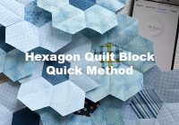 quick machine sew hexagon flower quilt block craft passion 11 Modern Modern Hexagon Quilt Patterns Inspirations