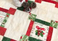 quilt as you go made vintage christmas table topper Elegant Quilt As You Go Made Vintage Gallery