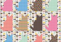 quilt inspiration free pattern day cat and dog quilts Cool Cat Quilt Block Patterns Inspirations