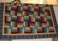quilt pattern with pinwheels rail fence split rail fence Cozy Split Rail Fence Quilt Pattern Inspirations