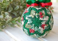 quilted ball basic star ornament pattern e book no sew learn to use both ribbon and fabric Modern Quilted Ball Ornament Pattern Inspirations