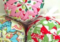 quilted christmas ornament patterns deck your tree Modern Quilted Ball Ornament Pattern Inspirations