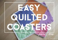 quilted coasters quilt 101 Interesting Quilted Coaster Patterns