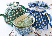 quilted drawstring tea cozy 9 Modern Quilted Tea Cosy Pattern Inspirations
