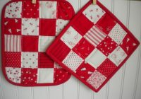 quilted potholder tutorial instructions patterns to try Modern Quilted Pot Holder Patterns