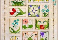 quilters paradise flower box medley applique quilt pattern Applique Flower Quilt Patterns
