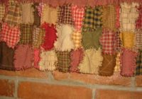 rag quilted valance epattern downloadable digital pattern Stylish Quilted Curtain Patterns