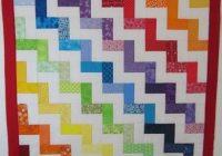 rainbow chevron tutorial fq jelly roll charm friendly Stylish Chevron Quilt Pattern Using Jelly Roll