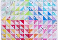 red pepper quilts a rainbow half square triangle quilt Cool Half Square Triangle Quilt