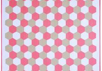 red pepper quilts tutorial sewing a hexagon quilt machine Stylish Hexagon Quilt Pattern