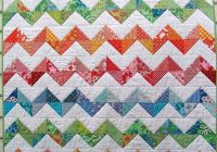 red pepper quilts zig zag quilt Unique Zig Zag Quilt Pattern No Triangles