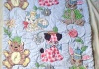retro ba quilt patterns fresh vintage ba quilt applique Interesting Vintage Baby Quilt Patterns Inspirations
