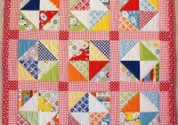 retro quarter square triangles quilt Cool Quarter Square Triangle Quilt Gallery
