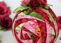 rosebud quilted ornament pattern ornaments fabric Stylish Quilted Ornament Pattern Gallery