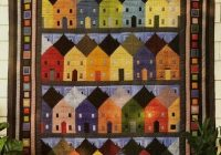 row houses log cabin block vintage quilt pattern love to Unique Pretty Houses Quilt Book Inspirations