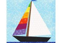 sailboat quilt blocks paper pieced quilt pattern instant Modern Sailboat Quilt Block Pattern