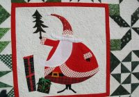 santa claus has come to town occasionalpiece quilt Santa Claus Quilt Patterns