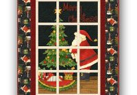 santas big night window quilt kit debbie mumm Interesting Debbie Mumm Quilt Patterns Inspirations
