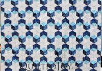 sarahs tumbling block quilt is an example of precise hand Elegant Tumbling Block Quilt Pattern