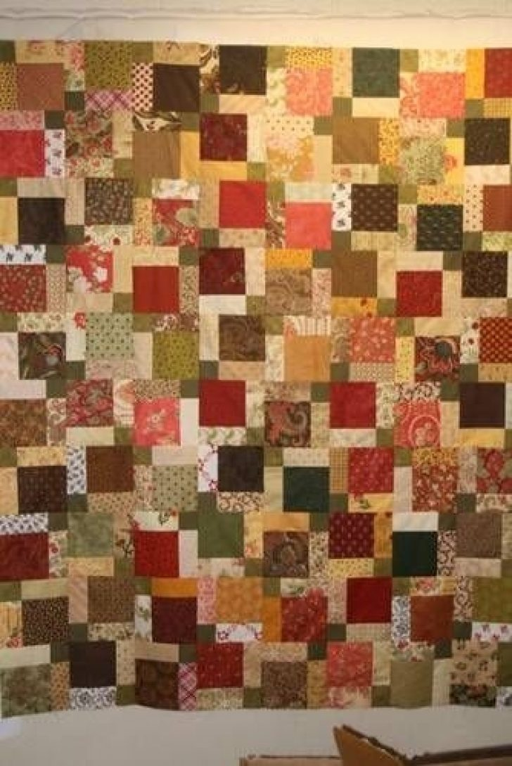Permalink to Modern Scrappy Disappearing 9 Patch Quilt