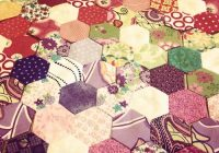 scrappy flower hexagon quilt sewn up Stylish Quilt Patterns Using Hexagons Inspirations