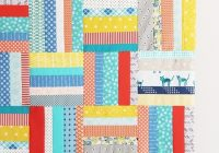 scrappy strips quilt tutorial cluck cluck sew Interesting Easy Strip Quilt Patterns Gallery