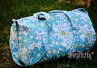 sewplicity tutorial quilted duffle bag Stylish Quilted Duffle Bag Pattern