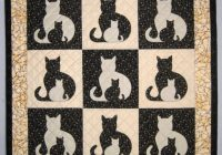 sidekick cat applique quilt pattern from quilts elena instructions for 5 quilt sizes included Elegant Cat Applique Quilt Patterns