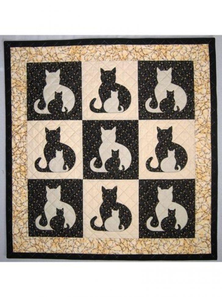 Permalink to Interesting Applique Cat Quilt Patterns