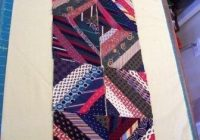 silk tie quilt koala quiltnsew patchwork quilting Cool Tie Quilt Ideas For Gifts Inspirations