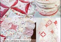 simple cathedral windows quilt blanket tutorial the Stylish Cathedral Windows Quilt Pattern Inspirations