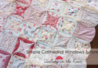 simple cathedral windows tutorial quilting in the rain Elegant Cathedral Window Quilt Pattern