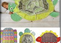 simplicity 2493 rag quilt rug blanket sewing pattern turtle caterpillar dinosaur throw Interesting Turtle Rag Quilt Pattern