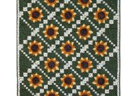 simply sunflower quilt pattern Unique Sunflower Quilt Patterns Inspirations