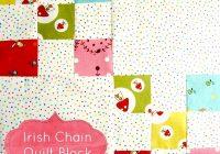 single irish chain quilt block tutorial patchwork posse Cool Single Irish Chain Quilt Pattern Gallery